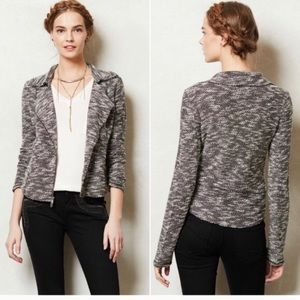 Anthropologie Saturday Sunday knit moto jacket